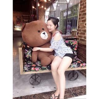Gấu bông brown khổ vải 1m hàng chuẩn siêu dễ thương giá rẻ