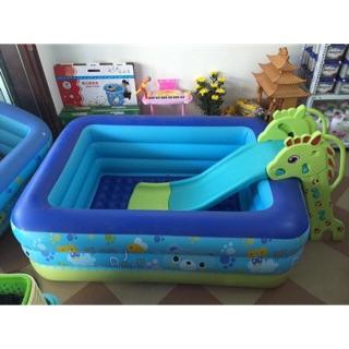 Bể bơi phao 3 tầng kích cỡ 150x100x55cm