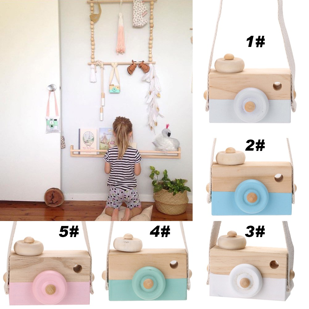 Wooden Camera Cameras Toy Children's For Children Kids