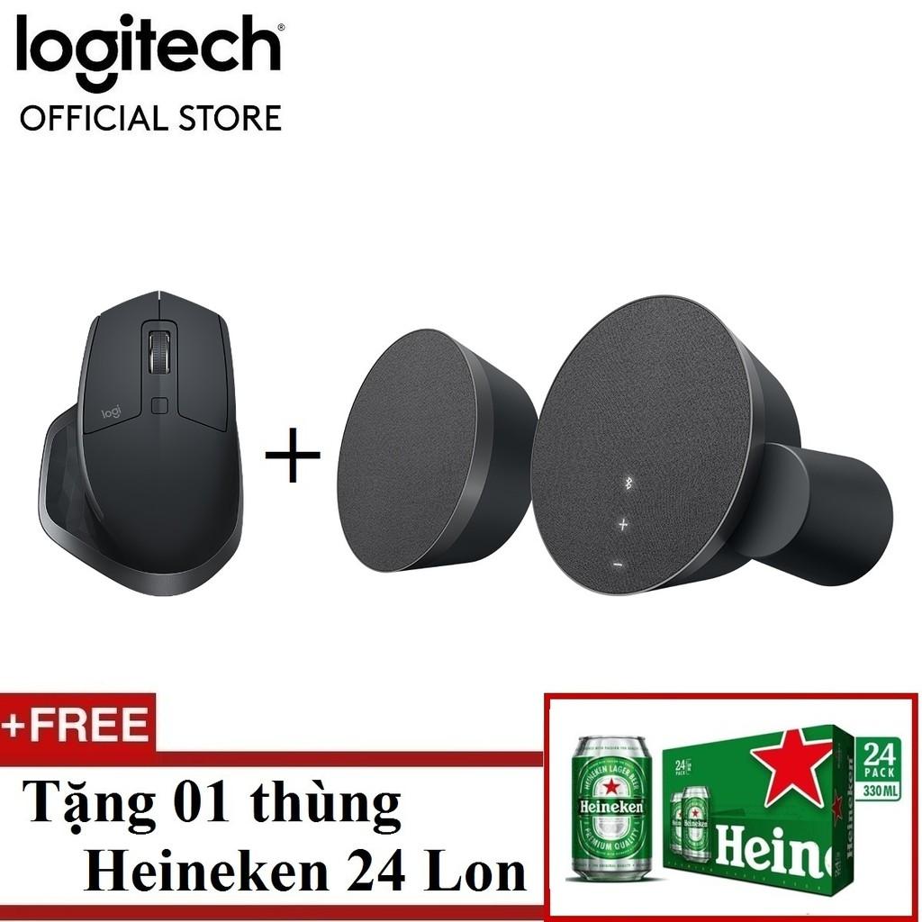 LOGITECH COMBO chuột MX MASTER 2S + Loa Bluetooth Logitech MX Sound - Hãng phân phối chính thức