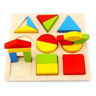 Bảng chia Phân số bằng gỗ