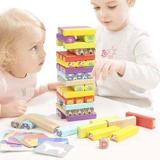 Bộ đồ chơi rút gỗ nhiều màu dành cho trẻ em