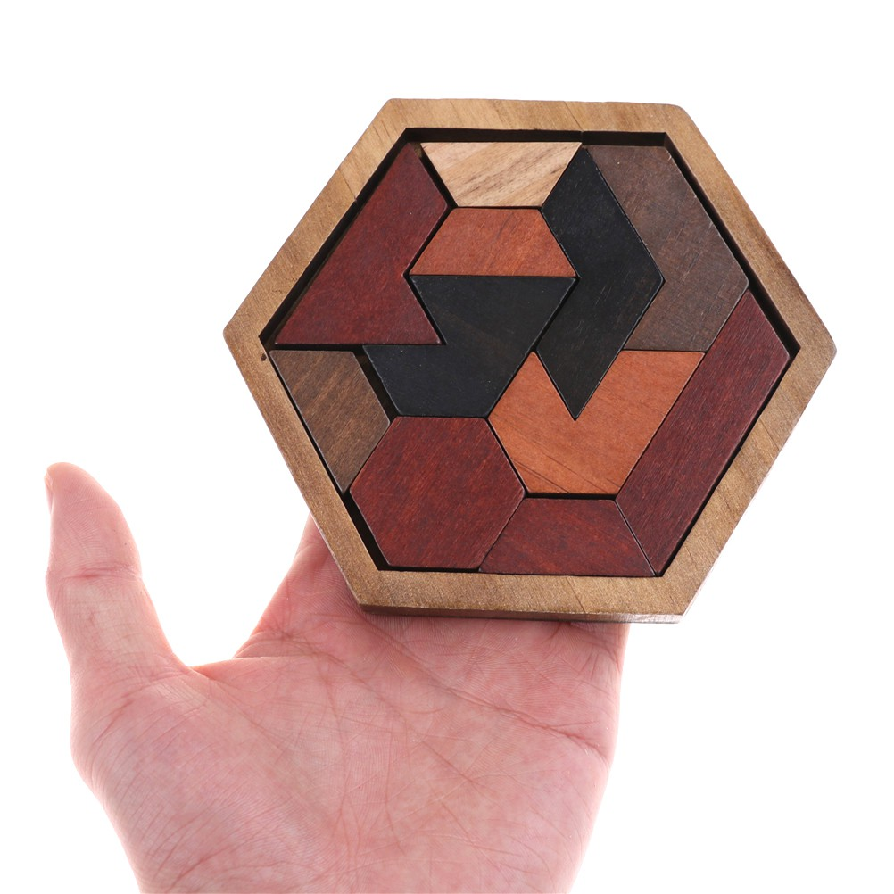 LOVEU* Creative Wooden Puzzles Tangram/Jigsaw Toys Geometric Children Education Gifts