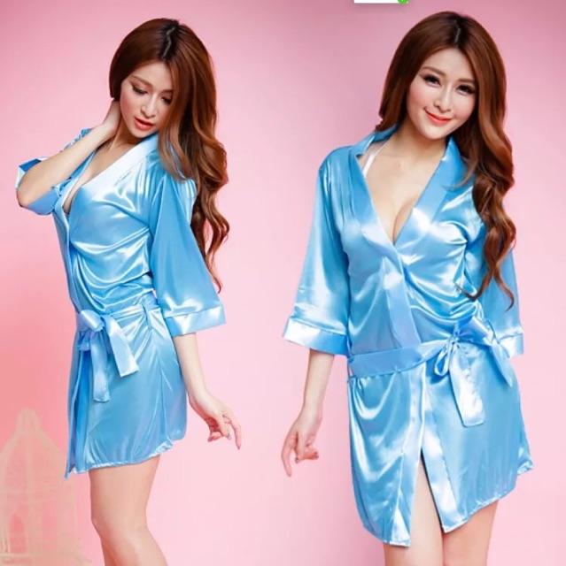 Đồ Lót Nữ Gợi Cảm - Đồ ngủ áo choàng tắm váy kimono đồ ngủ một mảnh sexy Hàn quốc - Đồ lót sexy