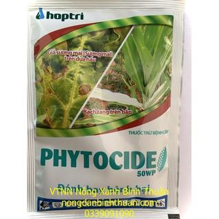 Phytocide 50WP Bệnh sương mai trên cà chua, bệnh giả sương mai trên dưa hấu. Bệnh chết nhanh trên tiêu vàng lá, rụng lá, thumbnail