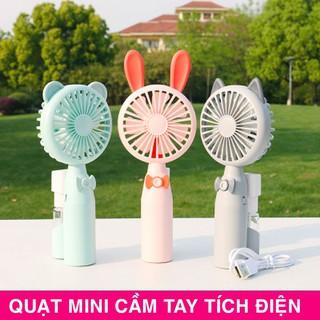 [FREESHIP] Quạt phun sương cầm tay mini Hàn Quốc cực cute . Quạt có tích hợp phun sương cực mát, tiện lợi khi bỏ túi đi