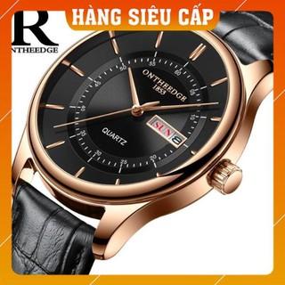 [CAO CẤP] Đồng hồ nam Ontheedge RZY029 dây da thời trang Fullbox chính hãng