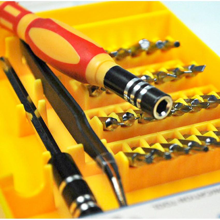 Bộ vít 32 đầu sửa chữa điện thoại, đồ dùng J6032 (Vàng) -DC1270