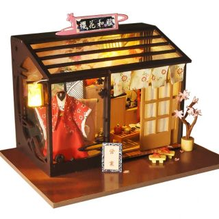 Mô hình nhà gỗ búp bê dollhouse DIY – TD27 Kimono