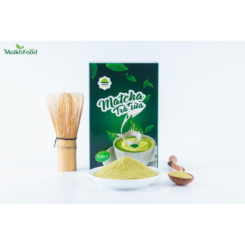 Trà Sữa Matcha MaikaFood Hộp 10 Gói - Hoà Tan 3in1 Không Cần Pha Nước Ấm/Detox/Kento