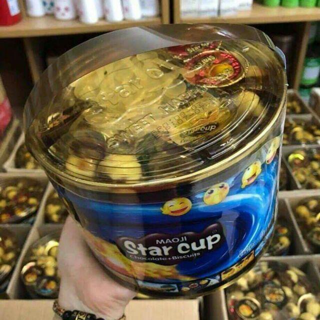 Bánh Quy sôcôla viên Star Cup thailan