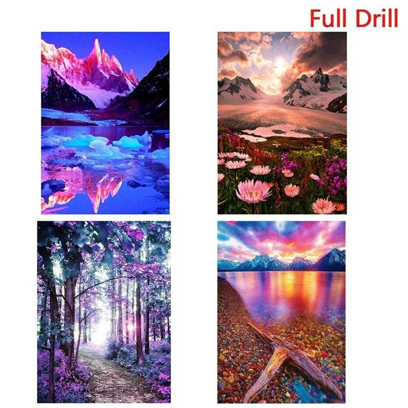 Full Drill 5D Diamond Painting Lake Embroidery Cross Stitch Craft Kit