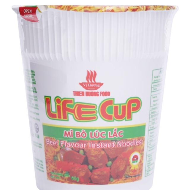 Mì bò lúc lắc Life Cup Vị Hương hộp 60g