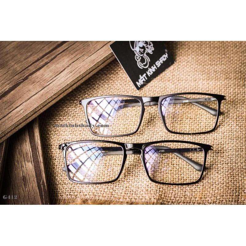 Mắt kính giả cận gọng dẻo hàn quốc💖FREESHIP💖kính mát nam nữ form vuông thời trang AH131