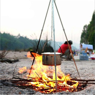 Giá treo nồi niêu xoong chảo đun nấu khi đi cắm trại, dã ngoại, du lịch mạo hiểm thumbnail