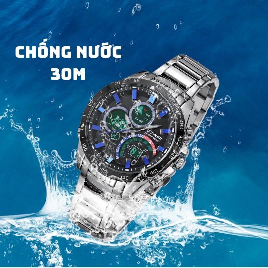 Đồng Hồ Nam D-ZINER DZ8106 Chính Hãng Dây Thép Không Gỉ Chống Nước Chống Va Đập - LIN