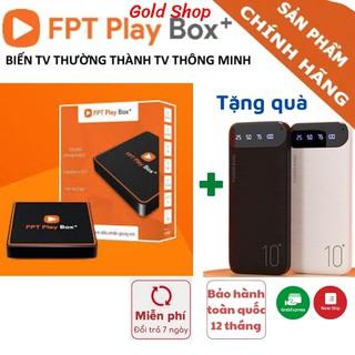 Đầu thu kỹ thuật số FPT Play Box+ 2020 Hệ điều hành AndroidTV 10 – Tivi Box – – Tặng chuột không dây GOLD SHOP
