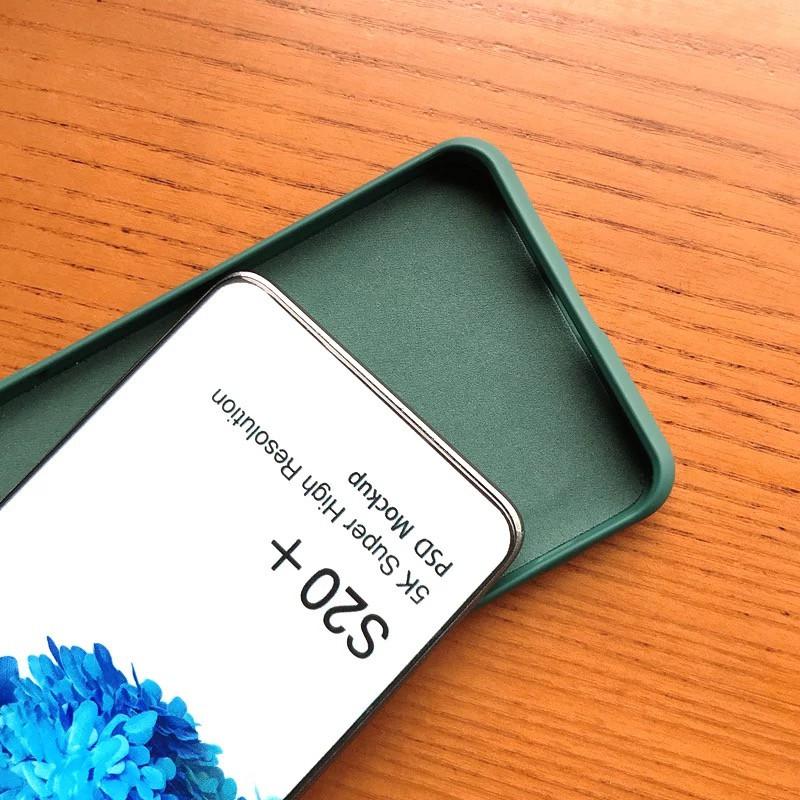 Ốp lưng silicon mềm màu trơn cho Samsung Galaxy S20 S20 Plus S20 Ultra A51 A71 A50 A70