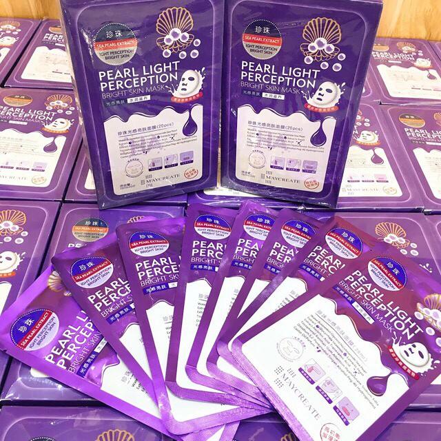 Mặt nạ HA 1 túi MayCreate Hyaluronic Acid Super Smooth Mask hàng nội địa Trung