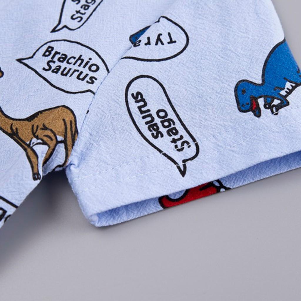 ☀RJ☀Toddler Kid Baby Boys Cartoon Dinosaur Print Tops Shorts 2PC Outfits Sets Summer