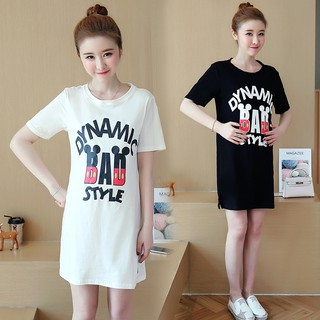 Maternity wear T-shirts, new maternity dresses with medium and long cotton blous