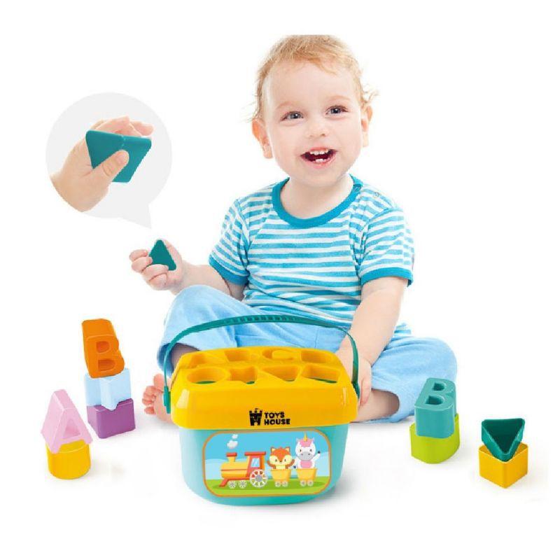 Đồ chơi thả hình khối hình tàu hỏa có quai xách Toyshouse cho bé