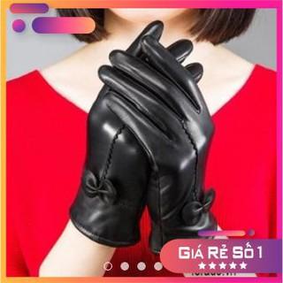 ( Da Thật- Có bảo hành ) Gang tay nữ Capacci lót nỉ cao cấp thumbnail