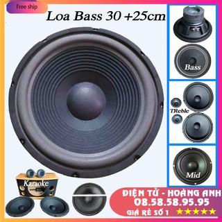 [Mã ELFLASH5 giảm 20K đơn 50K] Loa bass 30cm + 25cm lắp loa kéo karaoke coil 38mm từ 100mm Giá 1 chiếc