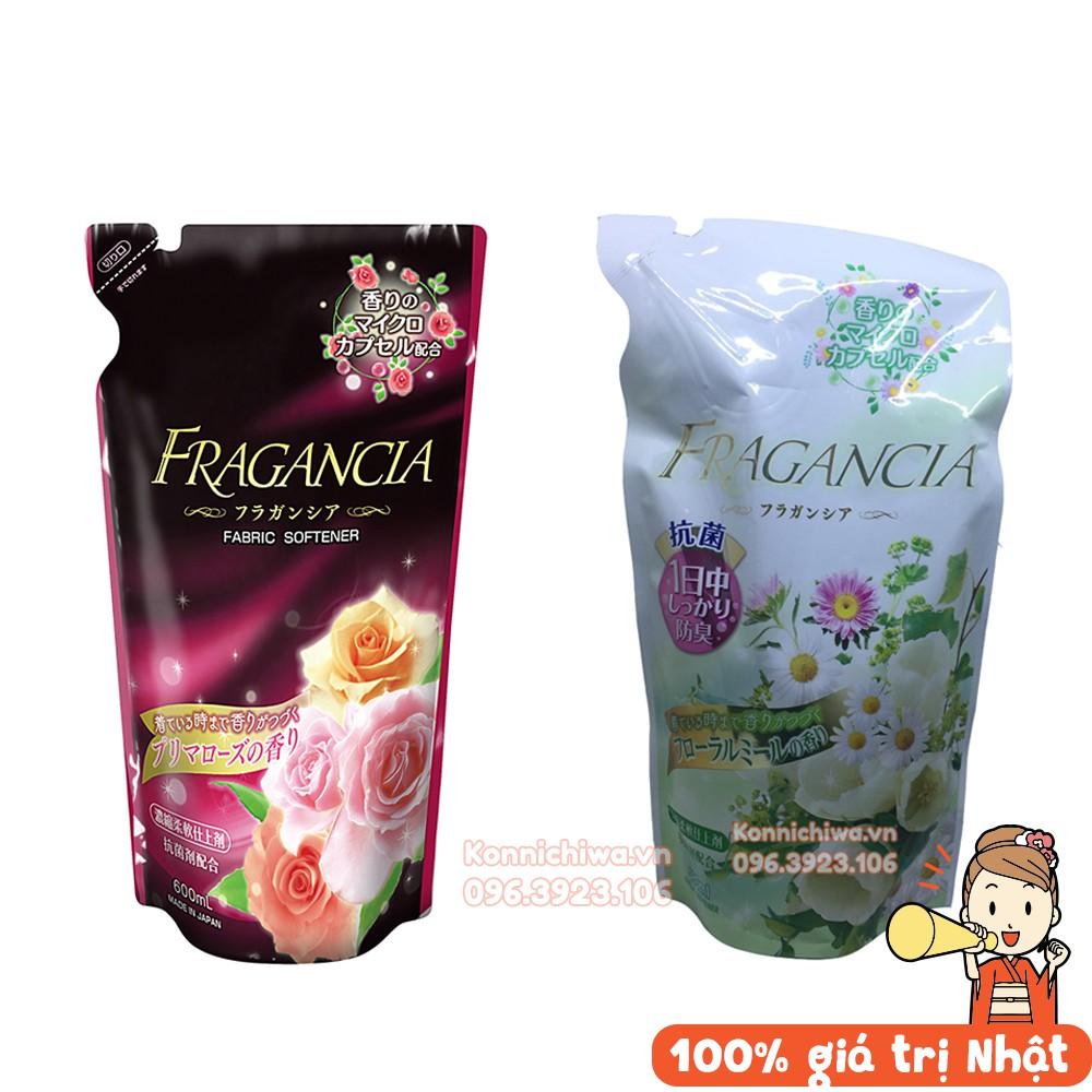 [Hành Nhật Nội Địa] Nước xả làm mềm vải Fragancia hương hoa cỏ nhẹ nhàng và hương hóa hồng quyến rủ 480ml/600ml