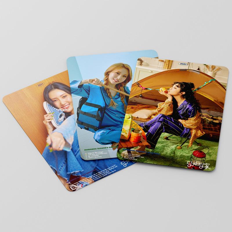 Set 55 Tấm Thẻ In Hình Nhóm Nhạc Mamamoo