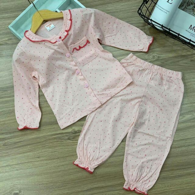 Combo 5 bộ cotton dành cho be gái