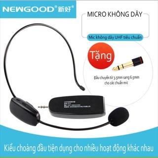 Micro không dây choàng đầu Newgood P11 UHF cho máy trợ giảng và các thiết bị âm thanh.