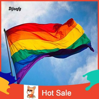 ♌Di Fashion Rainbow Flag Durable Big Polyester Lesbian Gay Pride Symbol LGBT Flags
