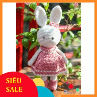 [CHÍNH HÃNG] [Xả Hàng] Thỏ Váy Hồng Điệu Đà – Quà tặng bé gái – Made By Bunny