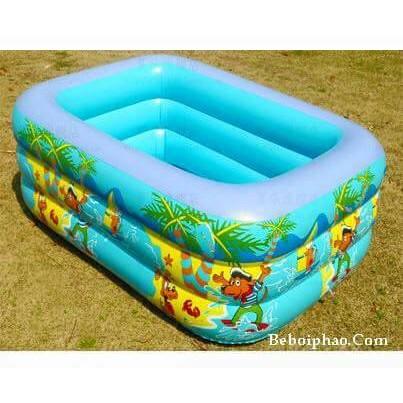 Bể bơi 3 tầng 2 đáy chống trơn trượt cho bé 1.3m