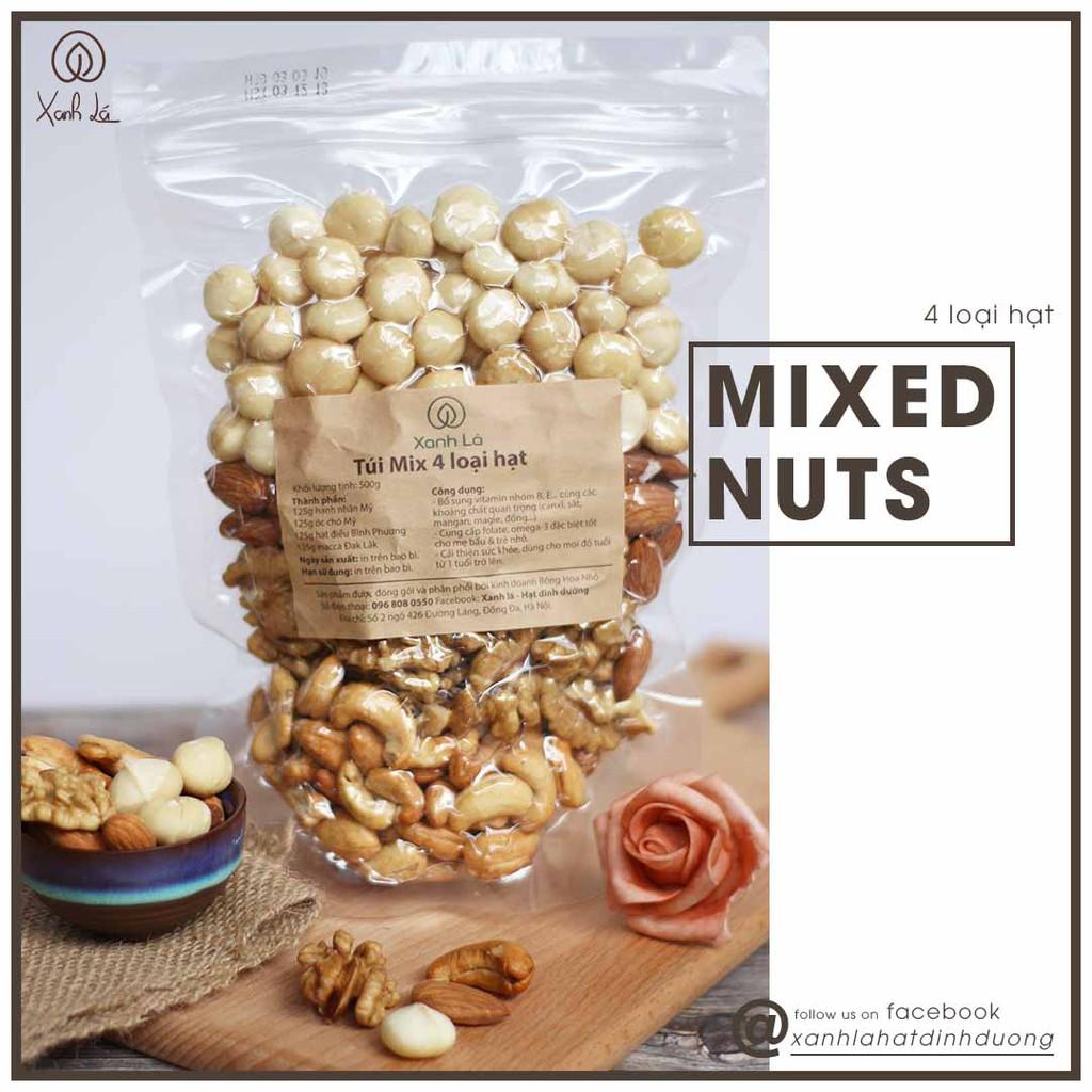 Hạt MIX 4 Loại hạt dinh dưỡng ( Óc chó, Hạnh nhân, Điều, Macca)