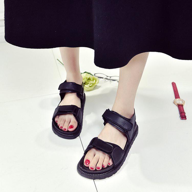 Sandal quai ngang vải dù năng động dành cho bạn gái-DG1