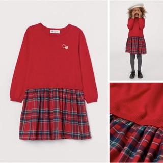 Váy len đỏ mẫu mới năm nay màu yêu đẹp săn sale US sz 4-6y