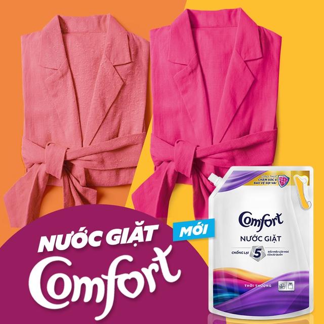 Nước giặt chống lão hóa vải Comfort hương Thời Thượng túi 2,2KG/3,1KG