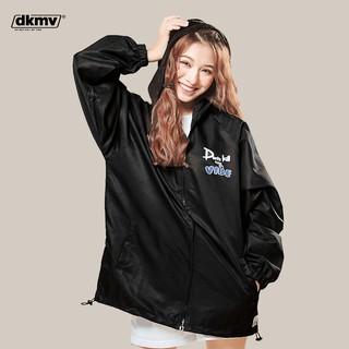 Áo khoác nữ dù màu đen, form rộng có nón Don t Kill My Vibe The Vibe Stealer Jacket thumbnail