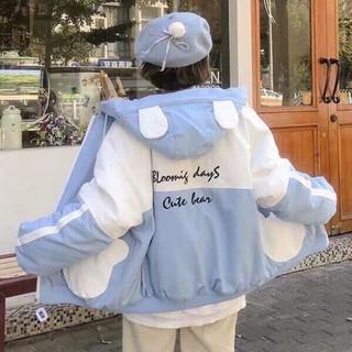 Áo khoác dù nữ hai lớp,trẻ trung năng động,mt 002 tcs