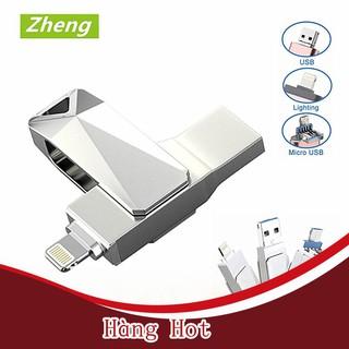 [ Hàng Hot ] USB Kim Loại Chống Nước 512GB-16BG 3 Trong 1 Dành Cho iOS iPhone iPad Android PC