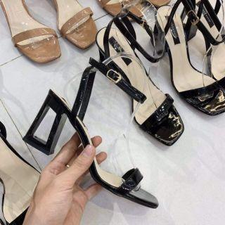 (xả kho ) giày cao gót da bóng 7p siêu đẹp + ảnh thật