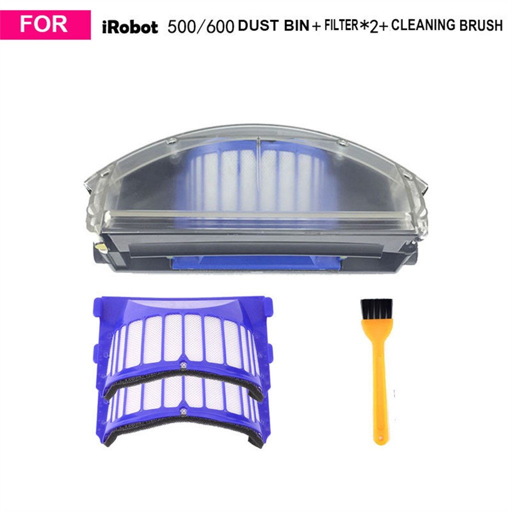 Dust Bin & Filter & Cleaning Brush Accessories For Roomba 500/600 Vacuum Cleaner