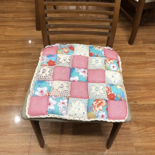 Nệm ghế lót ghế bàn ăn 40*40 phong cách quilt vintage