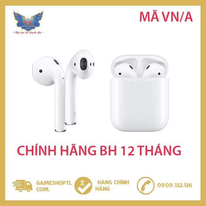 [Mã SKAMA07 giảm 8% đơn 250k]Tai Nghe Apple AirPods 2 True Wireless -MV7N2VN/A (Hộp Sạc Thường) - Hàng Chính Hãng VN/A