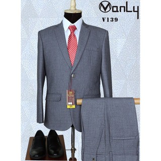 Bộ Vest Trung niên CAO CẤP - Ảnh tự chụp - Tặng móc treo vest và túi bọc vest - giá không đổi
