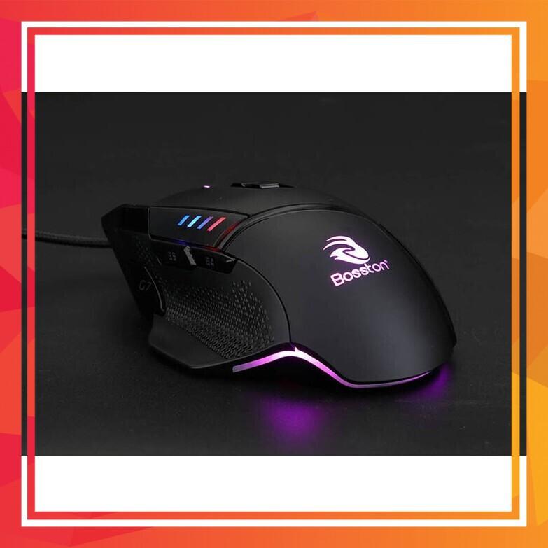 (Quá Rẻ) Chuột chuyên chơi game 6D led đa màu cao cấp Bosston GM800 (Đen)