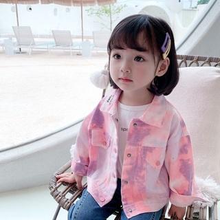 Girls' coat camouflage jeans autumn fashion children's clothes children's net red little girl Korean top