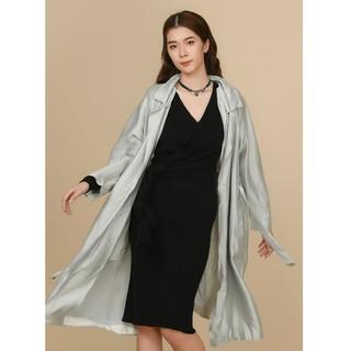 Áo khoác măng tô tapta ghi thiết kế Elise thumbnail